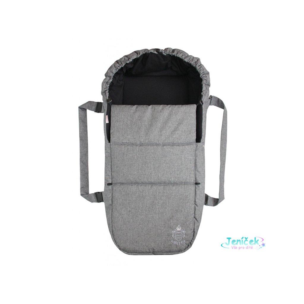 Emitex Taška pro kojence OXFORD - středně šedá - černá uvnitř