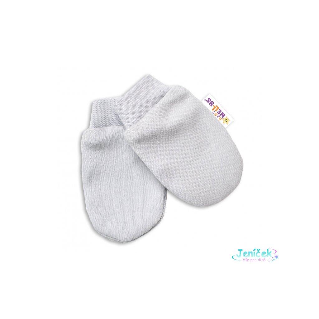 Baby Nellys Kojenecké rukavičky Lovely Bunny - šedé