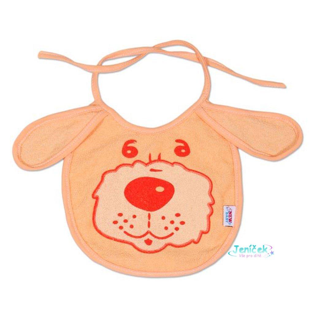 Dětský bryndák New Baby oranžový