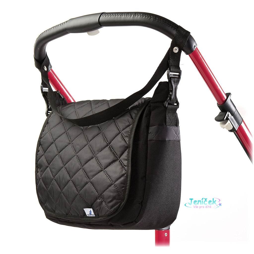 Prošívaná taška na kočárek CARETERO black