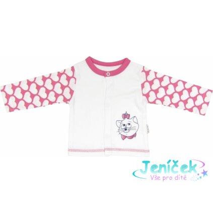 Bavlněná košilka Kočka Srdíčko, roz. 74