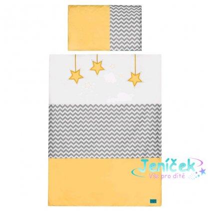 3-dílné ložní povlečení Belisima Hvězdička 100/135 žluté