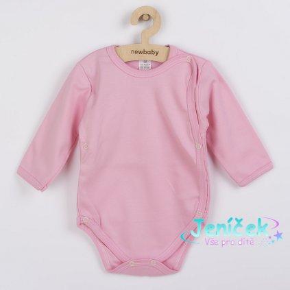 Kojenecké celorozepínací body New Baby Classic II růžové