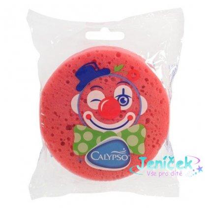 Koupelová houba Klaun Calypso tmavě růžová