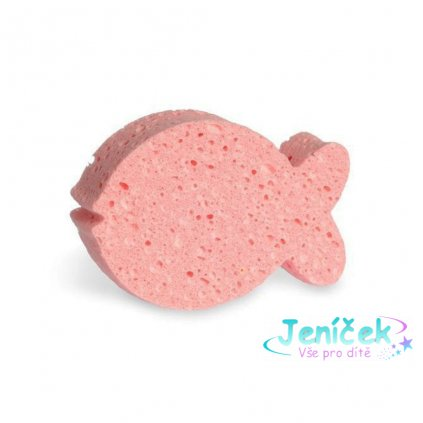 Koupelová houba Junior Natural Calypso růžová