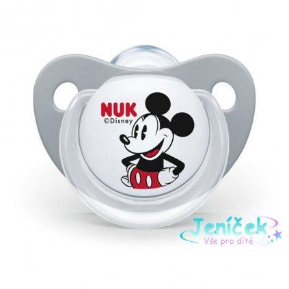 Šidítko NUK Trendline Mickey Mouse 6-18m šedé