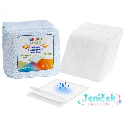 Jednorázové hygienické podložky Akuku 40x60 - 30 ks