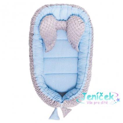 Hnízdečko pro miminko Minky Sweet Baby Belisima modré