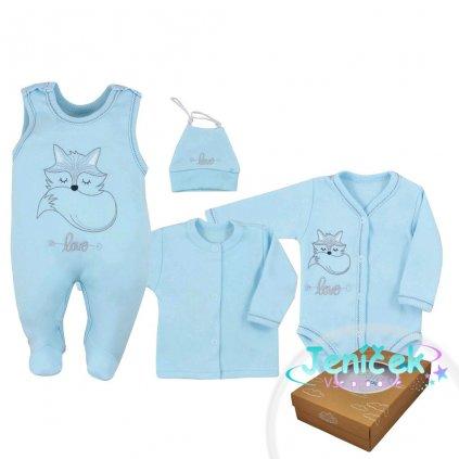 4-dílná kojenecká souprava Koala Fox Love modrá
