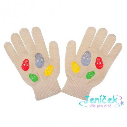 Dětské zimní rukavičky New Baby Girl béžové