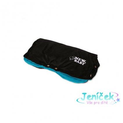 Rukávník na kočárek Classic Fleece black/blue