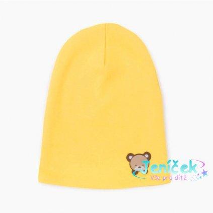 3880 czapka dla niemowlaka zolta ciepla
