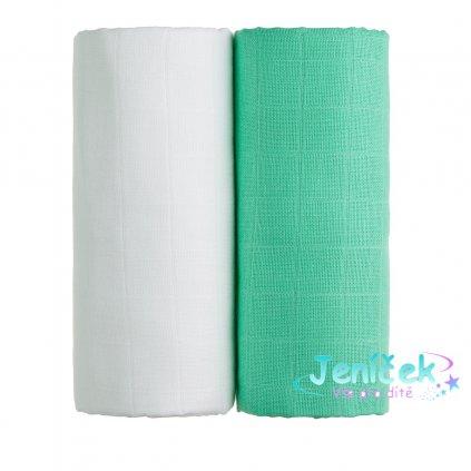 TETRA osušky EXCLUSIVE COLLECTION, white + green / bílá + zelená