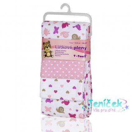 Látkové pleny, pink snails / růžoví šneci