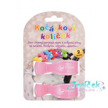 Kočárkové kolíčky, pastel pink
