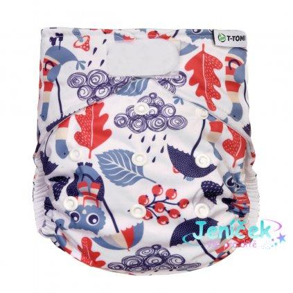 Kalhotková plena AIO - přebalovací set suchý zip, owls