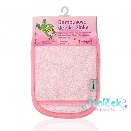 Koupací žínky - rukavice, pink - white / růžovo - bílá ST