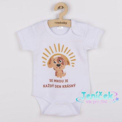 Body s potiskem New Baby SE MNOU JE KAŽDÝ DEN KRÁSNÝ