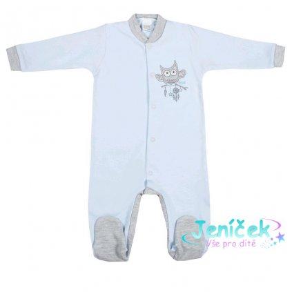 Kojenecký overal New Baby Owl modrý
