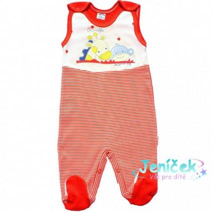 bawelniane spioszki niemowlaka czerwone 700x700