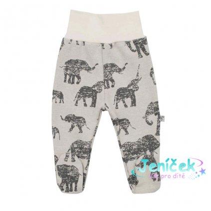 Zimní kojenecké polodupačky Baby Service Sloni šedé