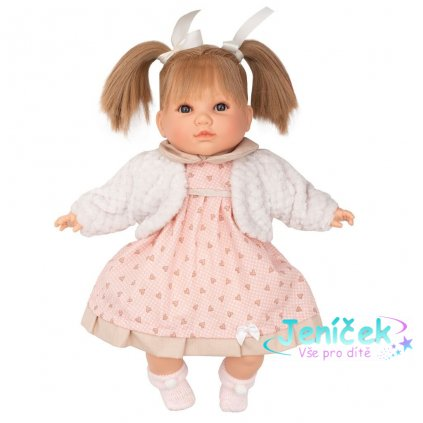 Luxusní mluvící dětská panenka-holčička Berbesa Natálka 40cm