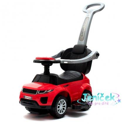 Dětské hrající jezdítko 3v1 Baby Mix červené