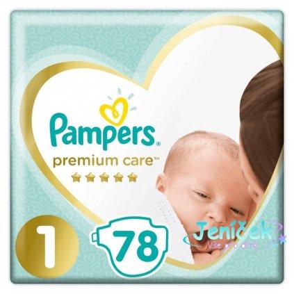 PAMPERS Premium Care 1 NEWBORN (2-5 kg) 78 ks Value Pack – jednorázové pleny