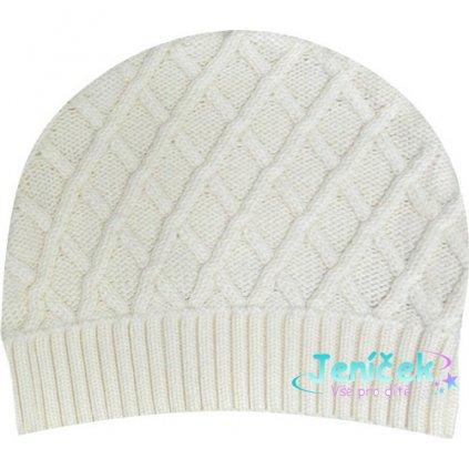 Pletená čepice - krémová