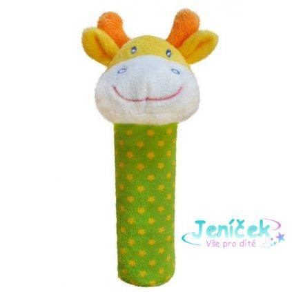 BOBA BABY Edukační plyšová hračka pískací - žirafka
