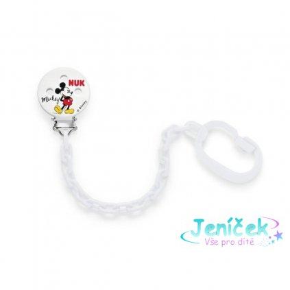 Řetízek na šidítko NUK Disney Mickey bílý