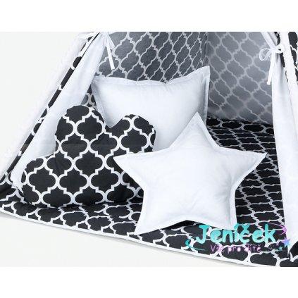 large poduszki maroko czarne bialy