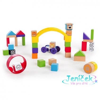 Hračka dřevěná stavebnice Curious Creations Kit HAPE 12m+