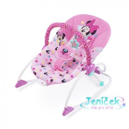 DISNEY BABY Houpátko vibrující Minnie Mouse Stars&Smiles Baby 0 m+, do 18 kg, 2019