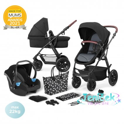 Kočárek kombinovaný 3v1 XMOOV Black Kinderkraf 2020