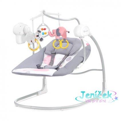 KINDERKRAFT Lehátko houpací Minky Pink 0m+, do 9 kg
