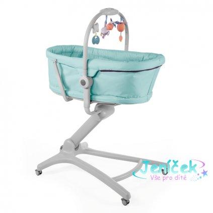 CHICCO Postýlka/lehátko/židlička Baby Hug 4v1 - Aquareelle