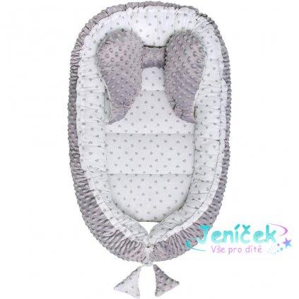 Hnízdečko pro miminko Minky Sweet Baby Belisima šedé