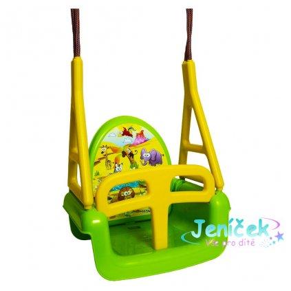 Dětská houpačka 3v1 safari Swing green