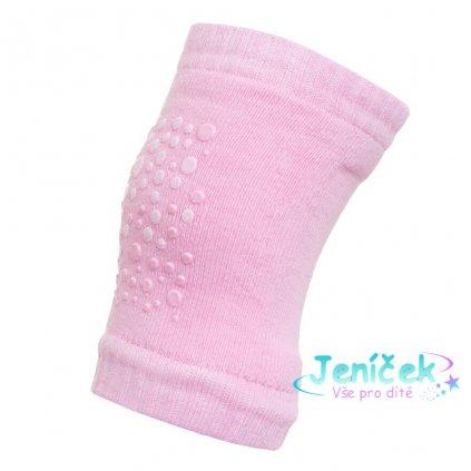 Dětské nákoleníky New Baby s ABS pink