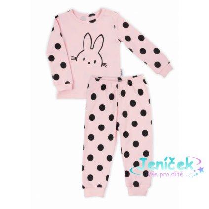 Nicol dětské pyžamo Nicol Bunny puntík - světle růžové