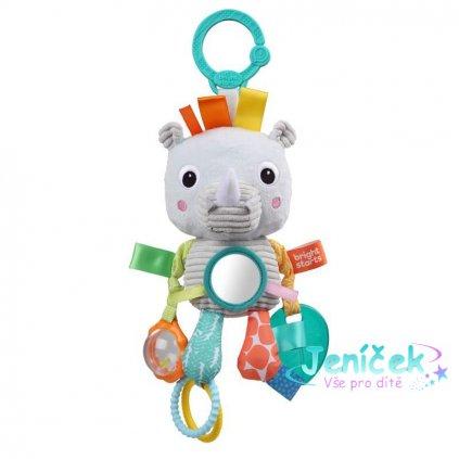 Hračka na C kroužku Playful Pals nosorožec 0m+
