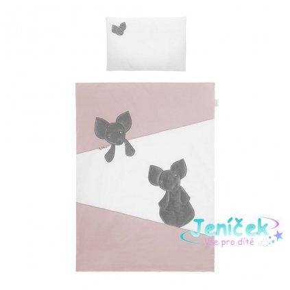 6-dílné ložní povlečení Belisima Mouse 100/135 růžové