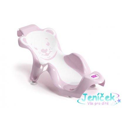 OK BABY Lehátko do vaničky Buddy - světle růžové