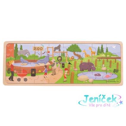 Bigjigs Toys Dřevěné puzzle ZOO