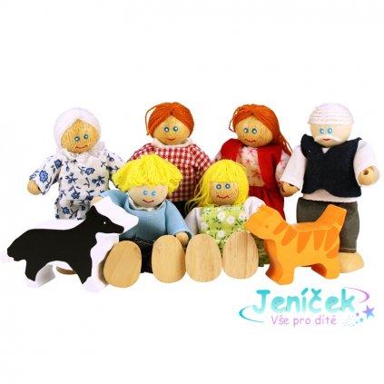 Bigjigs Toys Set rodinky do domečku