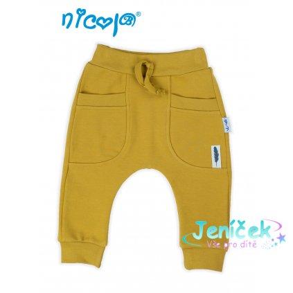 musztardowe spodnie dresowe chlopiec nicol