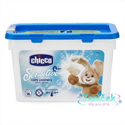 Prostředek prací gelové kapsle Chicco Sensitive, 16ks
