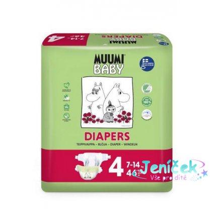 Plenky jednorázové 4 Maxi 7-14kg 46ks Baby Muumi