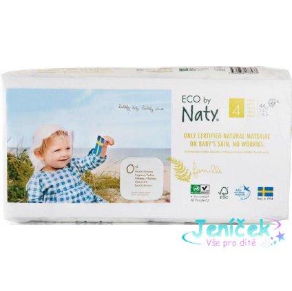 Plenky jednorázové Babycare 4 Maxi 7-18kg Economy pack 44ks Naty Nature